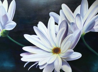 Large Emma painting of daisies
